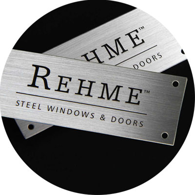 Brushed Steel Name Plate For Windows And Doors-Greatnameplates.com