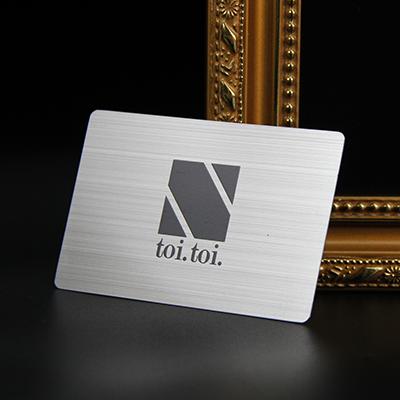 Customizable Printed Laser Engraving Brushed Blank Metal Card-Greatnameplates.com