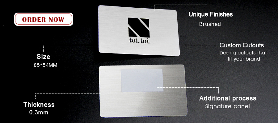Customizable Printed Laser Engraving Brushed Blank Metal Card-Greatnameplates.com