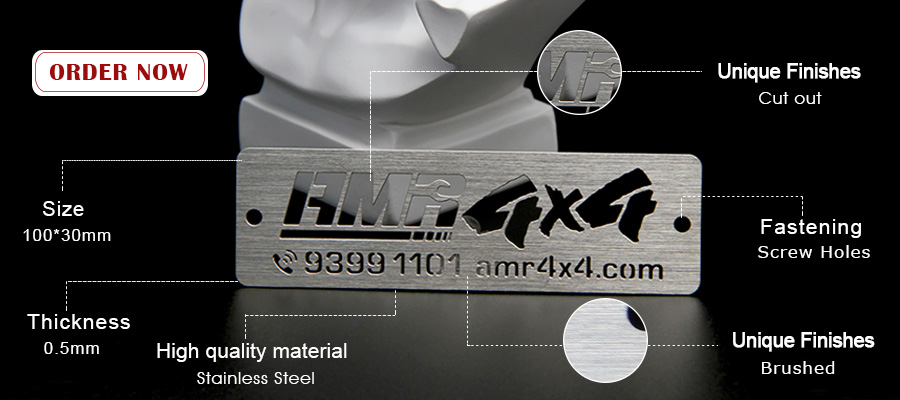 Low Price Custom Stainless Steel Logo Laser Cut Metal Nameplate-Greatnameplates.com
