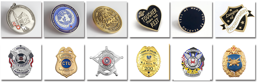 Customizable Embossed Personalized Metal Badges With Rings-Greatnameplates.com
