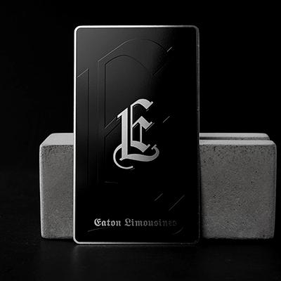 Hot Sell Custom Laser Engraved Black Metal Business Cards-Greatnameplates.com