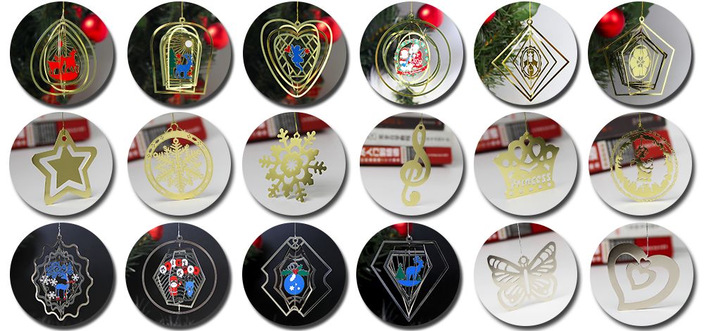 Wholesale Christmas Reindeer Styling Gifts That Can Be Customized With Personalized Metal Ornaments-Greatnameplates.com