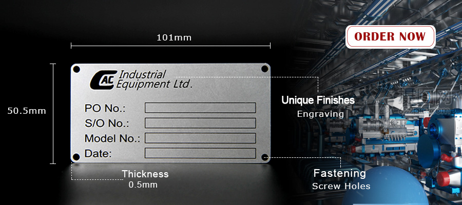 Custom Stainless Steel Data Metal Name Plate For Equipment-Greatnameplates.com