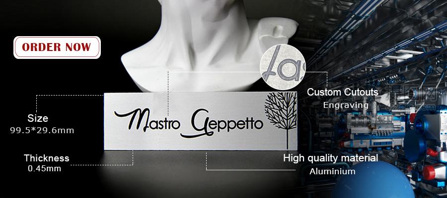 Laser Engraved Logo Aluminum Personalized Metal Nameplate-Greatnameplates.com