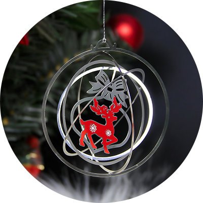Custom Stainless Steel Laser Cut Engraved Metal Ornaments-HENZHEN CHUANGXINJIA SMART TECH CO., LTD
