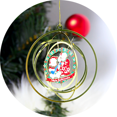Free Design Metal Engraved Brass Christmas Ornaments For Promotion-Greatnameplates.com