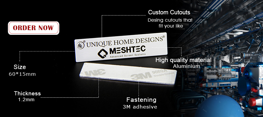 Custom Aluminum Printed Metal Tags With 3M Adhesive-Greatnameplates.com