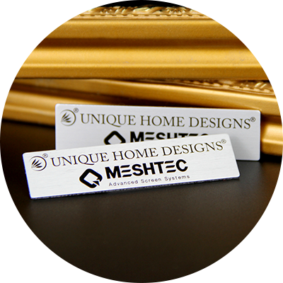 Custom Aluminum Printed Metal Tags With 3M Adhesive-Greatnameplates.com
