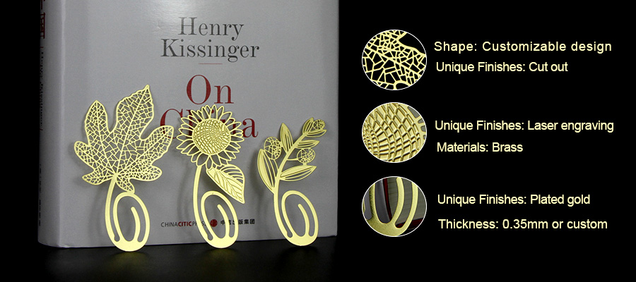 Wholesale low price laser engravable custom brass bookmarks-Greatnameplates.com
