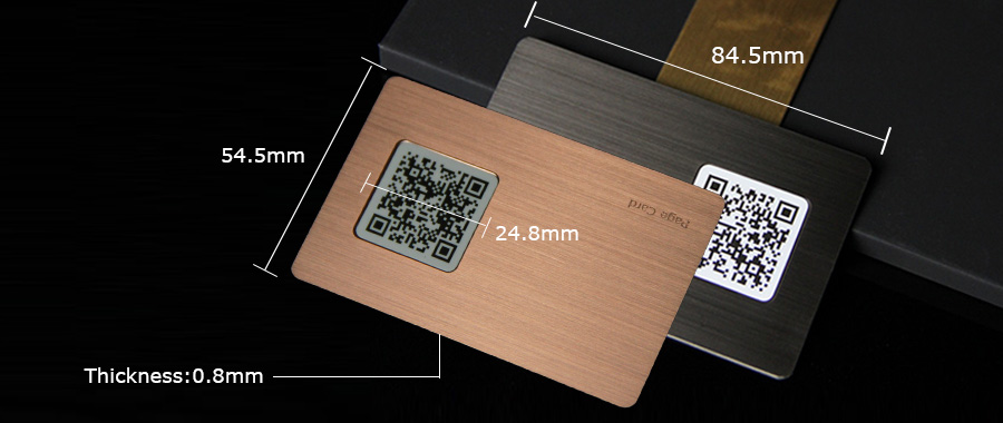 Customizable Rose Gold Brushed Metal Card Printing QR Code Supplier-Greatnameplates.com