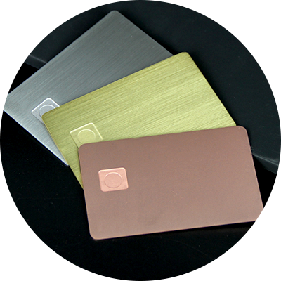 Standard Brushed Cr80 Chip Credit Card Blank Metal Cards Manufacturer-Greatnameplates.com