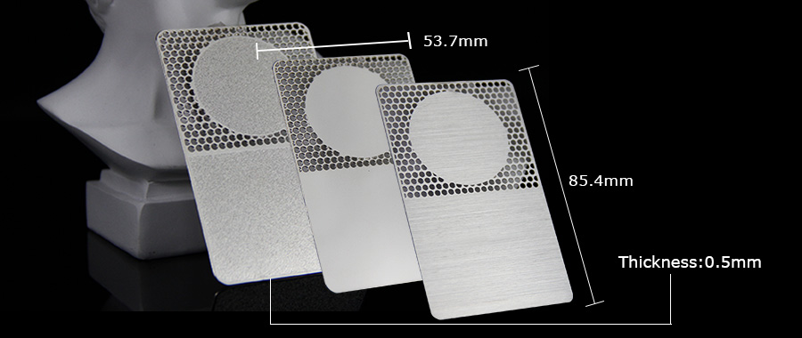 Manufacturers Customize Cut Out Metal Business Card Blanks Cards With Different Finishing-Greatnameplates.com