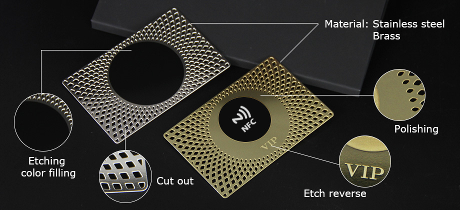 Wholesale Custom Stainless Steel Laser Cut Metal NFC Business Cards-Greatnameplates.com