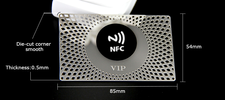 Customized High-Quality Etch Cut Out Hotel Club NFC Metal Business Cards-Greatnameplates.com
