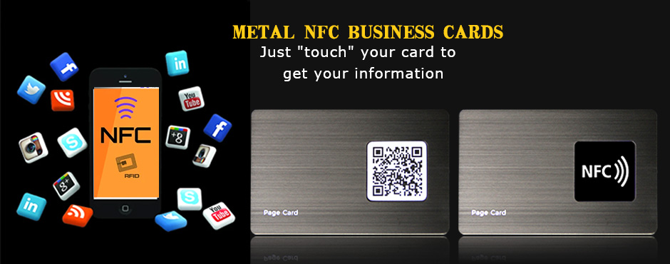 Wholesale Customized High-quality Brushed Steel NFC Metal Business Cards-Greatnameplates.com