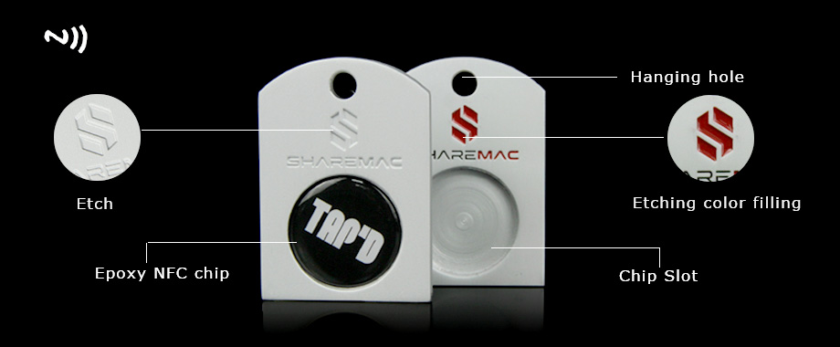 Customized Hot Sale Social Media Metal Nfc Card With Etching Logo-Greatnameplates.com