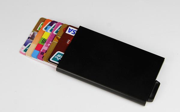 Custome Logo Aluminum Alloy Rfid Blocking Metal Pop Up Wallet-Greatnameplates.com