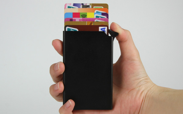 Wholesale Customized Ultra-thin Metal Rfid Card Holder Automatic Pop-Up Wallet-Greatnameplates.com