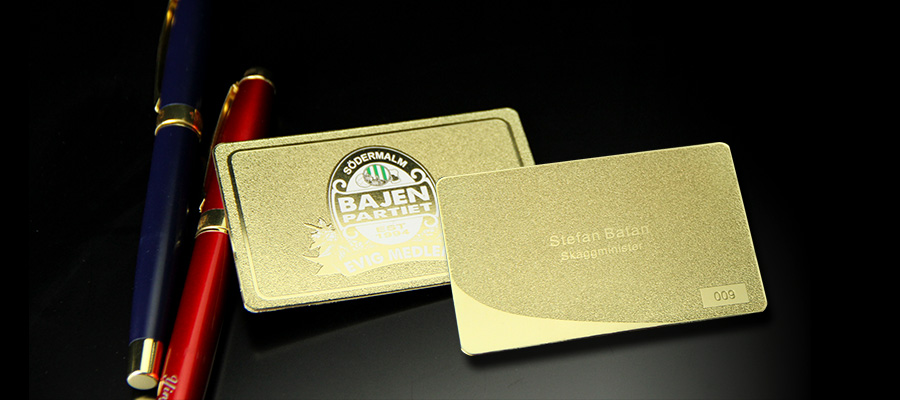 Customized Frosted Gold Luxury Metal Business Cards-Greatnameplates.com