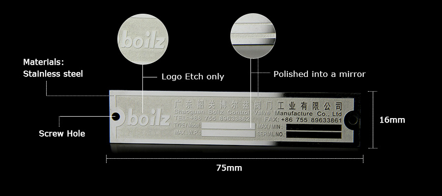 Custom Etched Stainless Steel Nameplates for Company Product Description-Greatnameplates.com